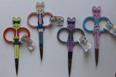 Happy Bunny Embroidery Scissors 4 inch (10cm)[Grey]-136